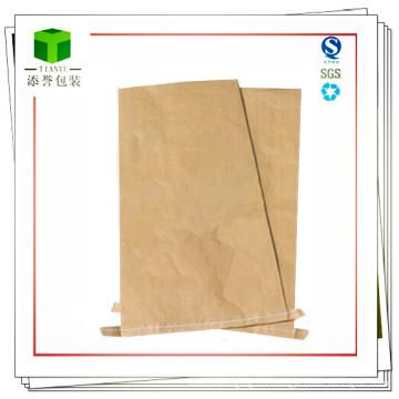 Bolsa de papel Kraft de la parte inferior de la costura del material plástico