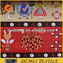 conception d'impression de coton tissu personnalisé tissé textile