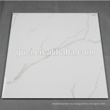 azulejos de porcelana nano-pulidos super blancos para baldosas de mármol blanco