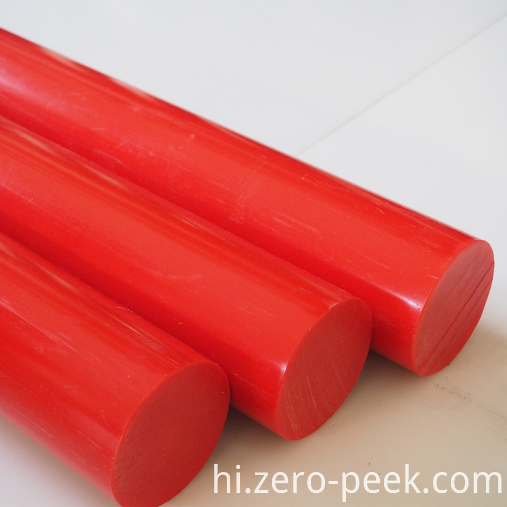 Red Virgin Delrin Rod