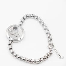 Médaillon de parfum d'acier inoxydable de Lotus 316L pour les bijoux de bracelet de mode