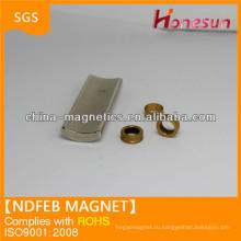 Спеченные редкоземельных неодимовый магнит дуги форма