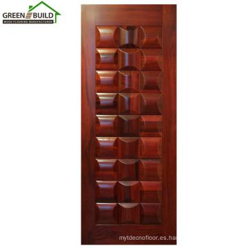 Precio del diseño de la puerta interior de madera del roble de Guangzhou