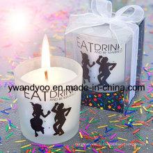 Bougies parfumées de cadeau d'anniversaire avec la marque privée