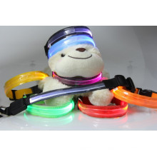 2016 горячая распродажа оптический прозрачный мигающие огни светодиодные животное ошейник