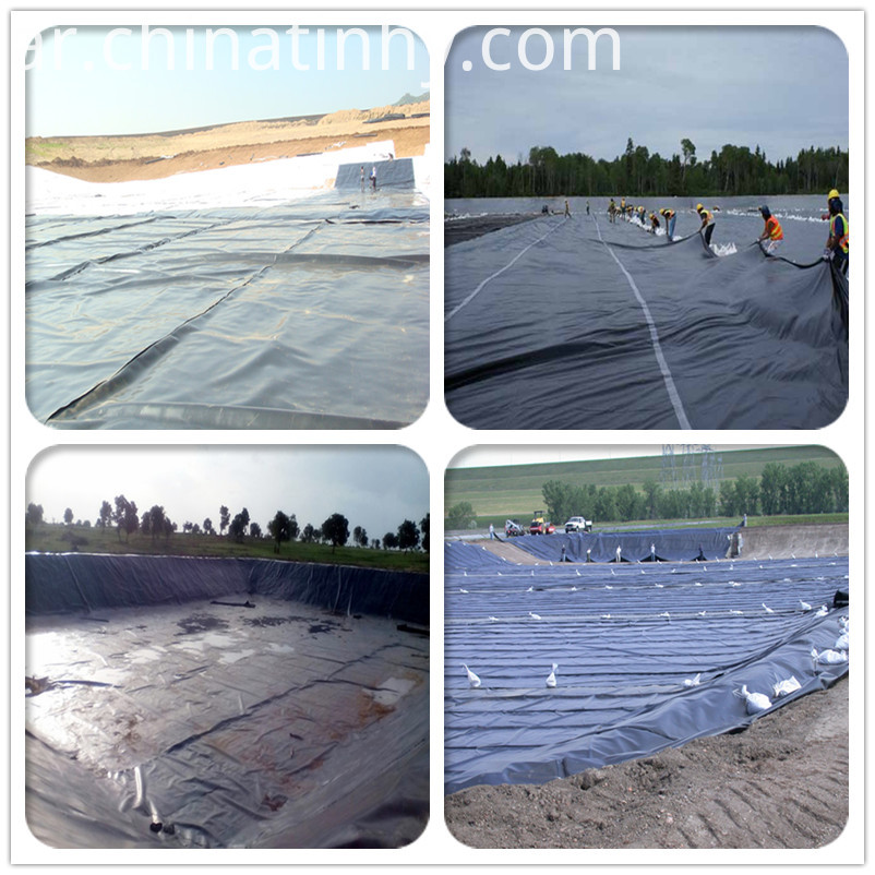 Smooth HDPE Waterproofing Liner Materials