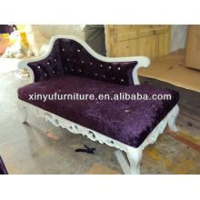 Tallado antiguo chaise lounge 022