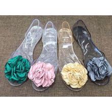 Chaussures uniques de cristal / gelée de PVC pour des dames