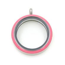 Мода подвеска ювелирные изделия круглый пластиковый круг стекла Locket