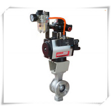 Pneumatic V Port Segment Ball Valve
