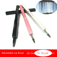 Versenkbarer Make-up-Lippenpinsel Tragbarer Lippenpinsel
