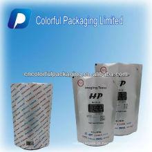 Folha de alumínio personalizado levantar-se saco de pó de carbono