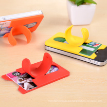 Recientemente 3m pegatina de silicona teléfono móvil tarjeta de bolsillo con soporte titular