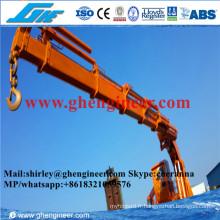 Grue navale télescopique rotative rotative hydraulique complète