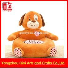 Fábrica yangzhou bebé niños silla de perro suave linda felpa silla de peluche