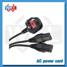 BIS approval UK british stabdard dual c13 Y type power cord