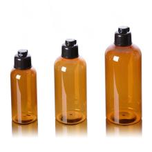 In Stock 100ml 200ml 300ml Body Lotion Bottle Plastic PET Shower Gel Shampoo Toner Pump Bottles with Flip Top Cap