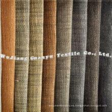 100% poliéster de imitación de tela de lino flameado para fundas de sofá