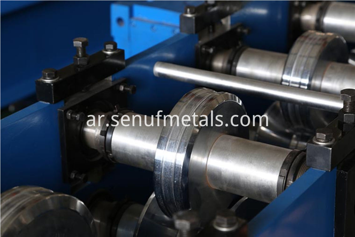 Door frame roll forming machine rollers