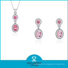 Ensemble de bijoux en argent rose Hotsale sur escompte (J-0174)