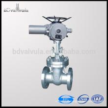 API 6D 6 pulgadas motorizada válvula de compuerta de acero inoxidable 150lbs 300lbs 600lbs