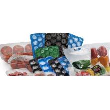 Padrão de qualidade exportado perfurado Thermoformed 29 * 39cm, 29 * 49cm, 39 * 59cm Bandeja plástica da inserção do uso do fruto fresco que empacota no produto comestível
