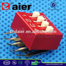Daier Rojo / Azul 1 ~ 12 posiciones plástico ángulo recto tipo DA SERIES Dip Switch