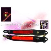 Brazalete reflectante de LED con cinta reflectante de PVC