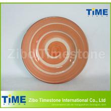 Handwäsche Custom Logo Keramikplatten Gerichte