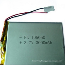 Bateria Li-Po 3.7V 3000mAh Eletrônica Bateria 105050