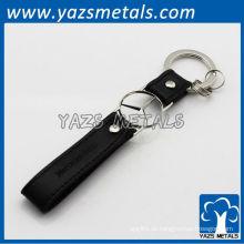 kundenspezifisches Logo-Lederband keychain
