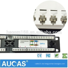 Factory Directly Supply 110 Typ Dual IDC UTP RJ45 Cat6 24 Port Patch Panel