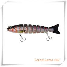 Señuelo plástico de la pesca con los ganchos de Vmc para la promoción (OS21003)