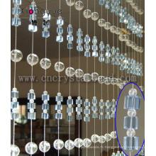 Rideau en fenêtre cristal porte mode pour la maison et la décoration de mariage