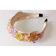 Bling Bling Fashion coloré fleur de zircon bijoux bandeau