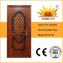 Стальная дверь входная дверь бронированная дверь металлическая дверь (СК-S146)
