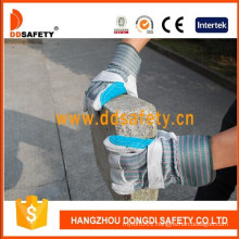 Grey Heavy Duty Cow Split Working Safety Gloves Manufacturer