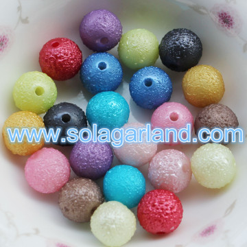 6/8/10MM Acrylic Round Imitation Swarovski Beads