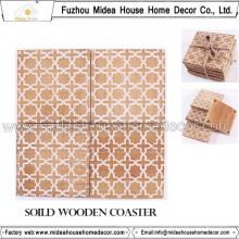 Eco-Friendly Various Design Wooden Coaster ou Table Mat