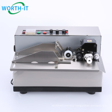 High Speed stainless film plastic bag label printing machine / Dry ink roll coder / Solid Ink Coding Machine
