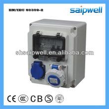 Пластичная электрическая коробка выхода IP67 с 16A / 2P MCB