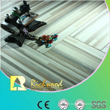 Plancher Lamiante gaufré par chêne de relief de ménage de 12.3mm
