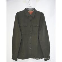 Jaqueta de camisa masculina de inverno