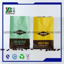 Кофейная сумка с яркими цветами Quad Sealing