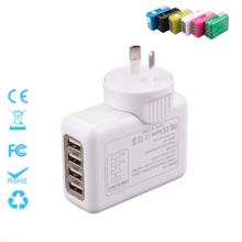 Cuatro puertos Intercambiables Travel Plug Cargador 5V = 2.1A