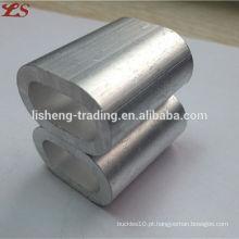 Venda quente din3093 ferrules de alumínio para cabo de aço