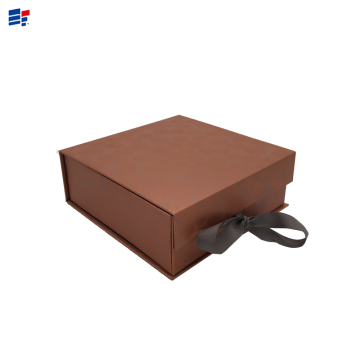 Simple brown box with ribbon