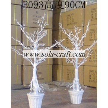 Artificial White Wedding Tree 90CM For Table Centerpiece