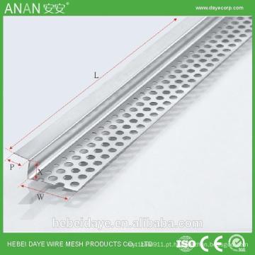 Pétalas decorativas de canto de alumínio metálico para concreto