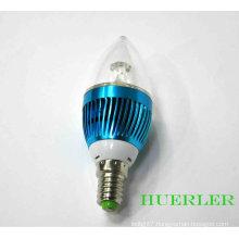3w crystal led chandelier light bulbs 270-360lm